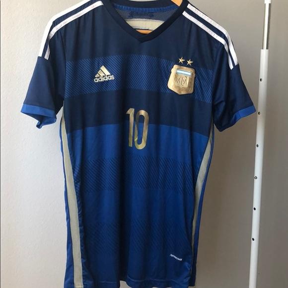 "detailed look 33976 8264b 2014 Argentina Away Kit ""Messi 10"""